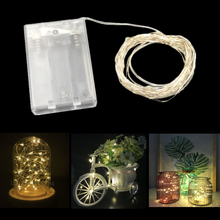 ECLH 10M 100 LED 3XAA Battery String Lights for Xmas Garland Party Wedding Decoration Christmas Flasher Fairy