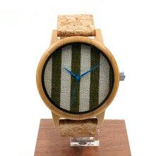 БОБО ПТИЦА Моды Роскошные мужские Часы Бамбука Подлинной Натуральной Кожи Япония Движение Наручные Часы для Мужчин Деревянные Часы в качестве Подарков А29