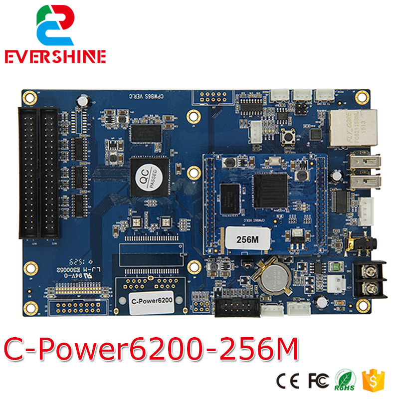Lumen C-power 6200 RGB Full Color 256MB Memory  Asynchronous LED Display Controller Card for AVI,MP4,JPG,VIDEO good group diy kit led display include p8 smd3in1 30pcs led modules 1 pcs rgb led controller 4 pcs led power supply
