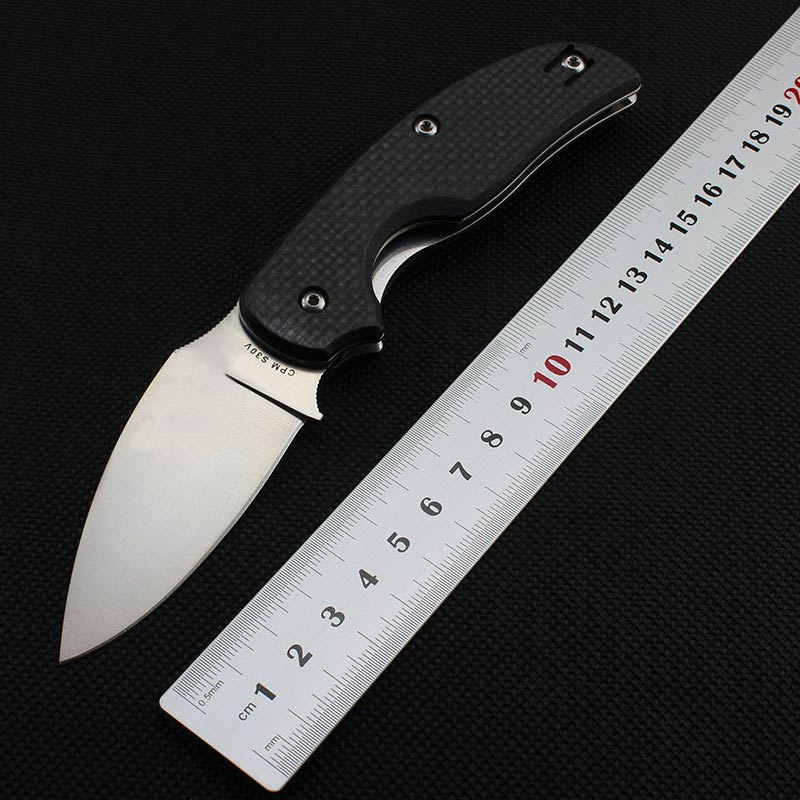High Quality C123 58-60HRC CPM-S30V blade Carbon fiber handle folding knife hunting tactical tool camping knife outdoor EDC tool ldt c85 yojimbo 2 folding knife cpm s30v blade carbon fiber handle camping survival knife hunting outdoor pocket edc knife oem