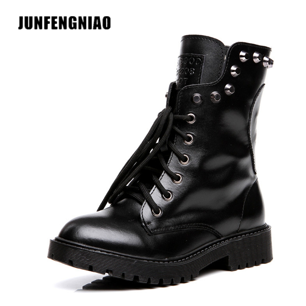 Fashion Snow Rain Boots Women Shoes Flat Winter Fur Plush Lace Up Ankle Retro Skull Split Cow Leather Rubber Superstar WZJB-8311 new brand motorcycle accessories front brake disc rotor for honda cbr1000rr 2006 2007 2008 2009 2010 2011 2012