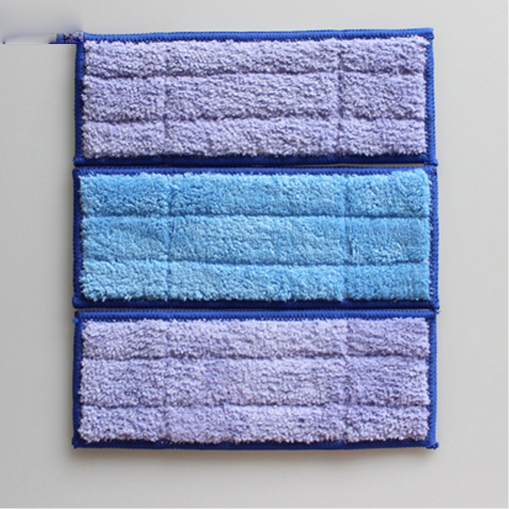 3Pcs Total Microfiber Washable Wet & Damp & Dry Wweeping Pad Mopping Pads For iRobot Braava Jet 240 Cleaner  microfiber wet room pads 24 in long split nylon polyester blend blue