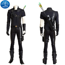 2017 Cosplay Costume Hawkeye Roleplay Captain America Civil War Cosplay Men's Jumpsuit Adult Custom Made Free Shipping