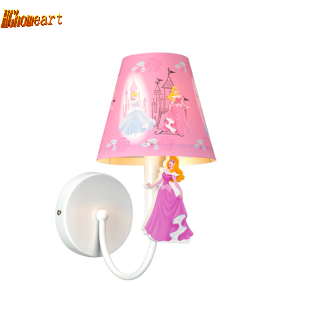 Indoor Lighting Kids Room Wall Lamps Pink Bedside Lamp Led E27 110V-220V Wall Lights for Home Lighting Modern Led Wall Lamps tiffany baroque sunflower stained glass iron mermaid wall lamp indoor bedside lamps wall lights for home ac 110v 220v e27