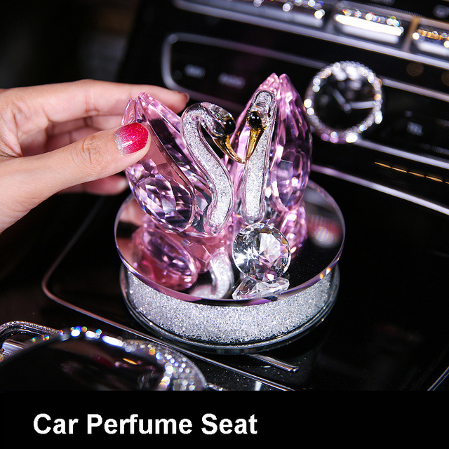 Pink Diamond Car Interior Decoration Accessories for Girl Crystal Pendants Steering Wheel Covers Tissue Box Car Ashtray Ornament