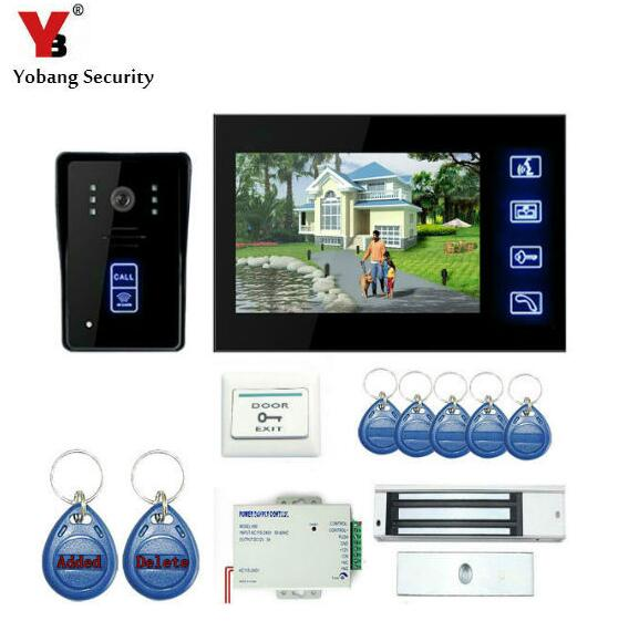 YobangSecurity Touch Key 7Inch Video Door Phone Doorbell Intercom Entry System With RFID Keyfobs,Electronic Lock,Power SupplyYobangSecurity Touch Key 7Inch Video Door Phone Doorbell Intercom Entry System With RFID Keyfobs,Electronic Lock,Power Supply