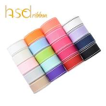 HSDRibbon 9MM 16MM 22MM 38MM colorful Stitch Grosgrain Ribbon(China)
