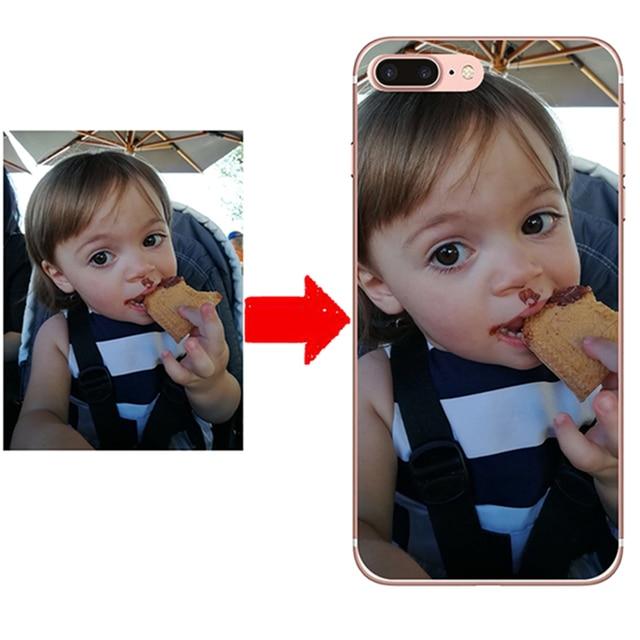 DIY foto personalizado nombre teléfono caso para Samsung Galaxy S6 S7 borde S8 S9 Plus Nota 8 Note8 personalizado suave TPU funda de silicona