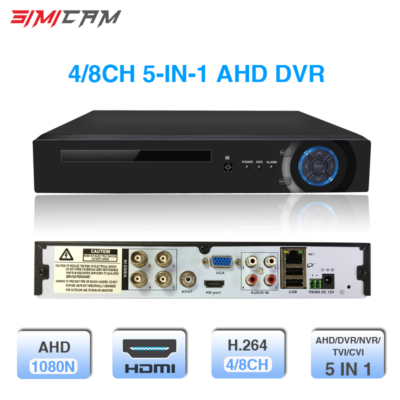 Video Recorder SIMICAM 4CH 8CH DVR XVR 1080P 5 in 1 for AHD camera analog camera IP camera P2P NVR cctv system H.264 Support AppVideo Recorder SIMICAM 4CH 8CH DVR XVR 1080P 5 in 1 for AHD camera analog camera IP camera P2P NVR cctv system H.264 Support App