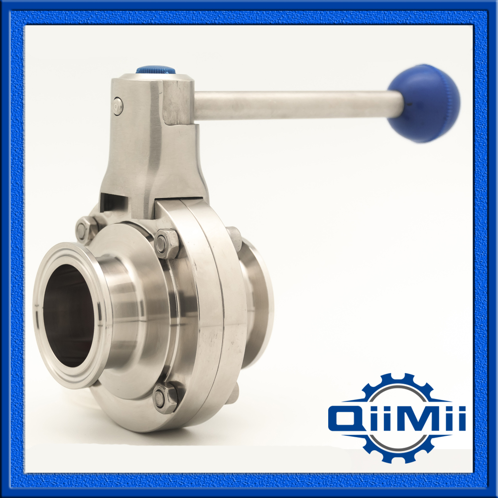 1 5 SS304 SS316L Stainless Steel Clamp Silicon Butterfly Valve Sanitary Manual Butterfly Valve