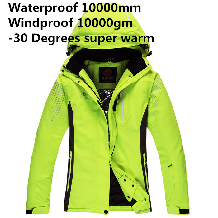 Cheap Ski Suit Women Skiing Jackets Outdoor Sports Clothing Snowboarding Coat Ladies Thicken Warm Winter Suits Red/Yellow/Blue brand ski suit women winter warm