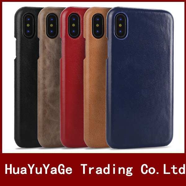 Phone cases For iPhone X 10 luxury vintage PU Leather Matte Ultra thin back case cover for iPhone 6 6S Plus iPhone 7 Plus 8 Plus