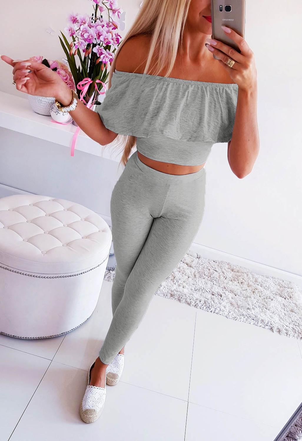 Female Clothing Solid Long Pants 1