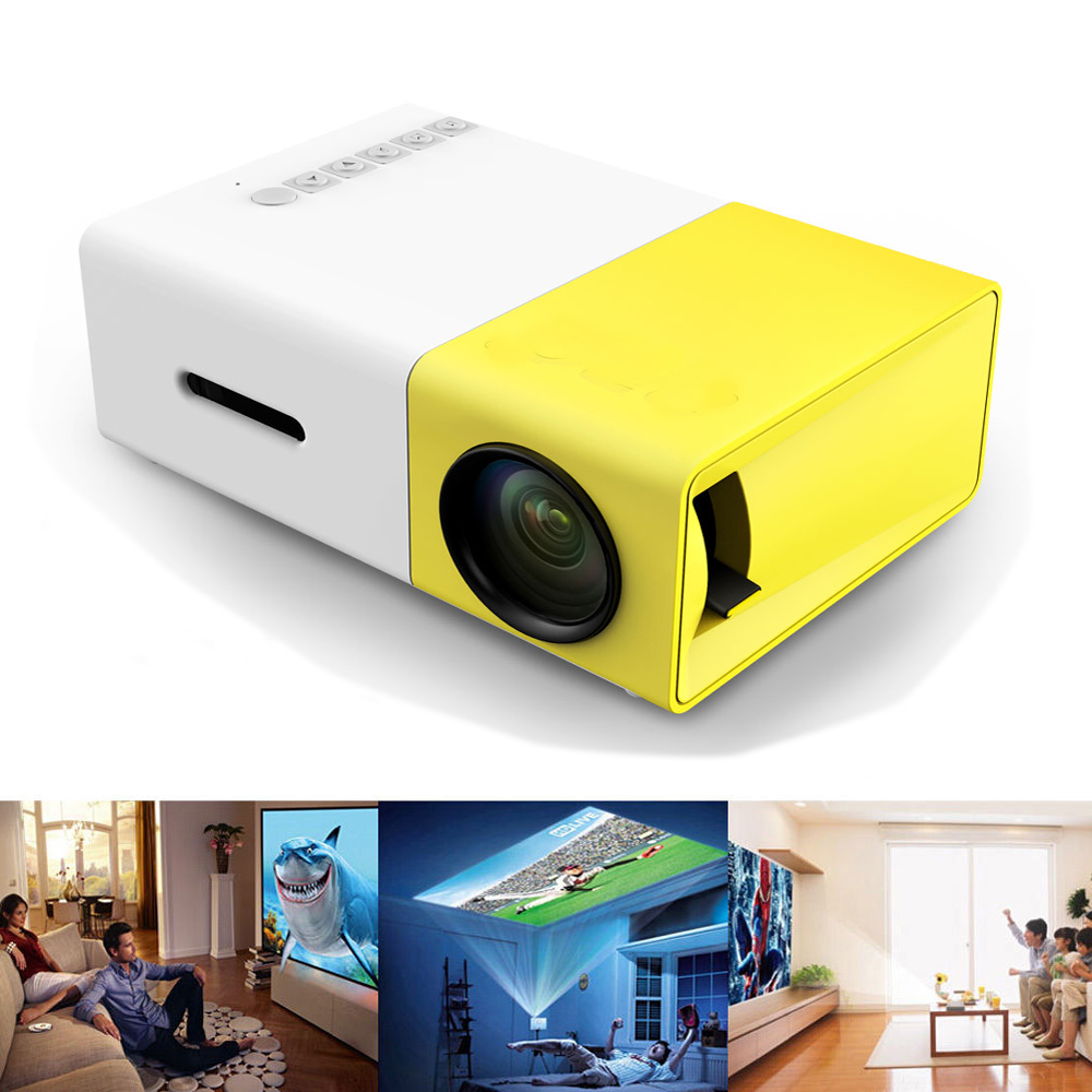 Yg300 portable led projector cinema theater pc for Hdmi pocket projector