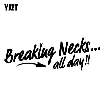 YJZT-Juego de calcomanías de vinilo divertidas de 18CM x 6,3 CM, calcomanías...