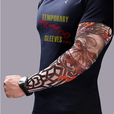 New hot driving sunscreen arm tatoo sleeve man & woman cool cycling temporary flash tattoo Stretchy scorpion fake tattoo sleeves 2