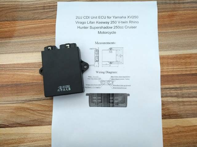 2uj motorcycle cdi unit ecu for yamaha xv250 virago lifan keeway 250 v-twin  rhino