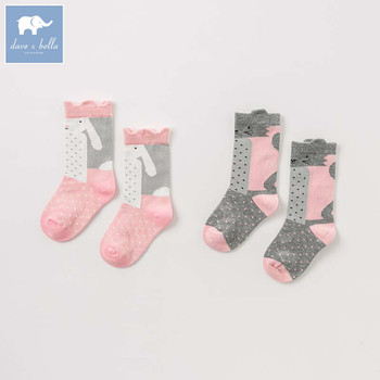 DB8869 dave bella spring fall baby girls Lolita sock children print lovely socks image