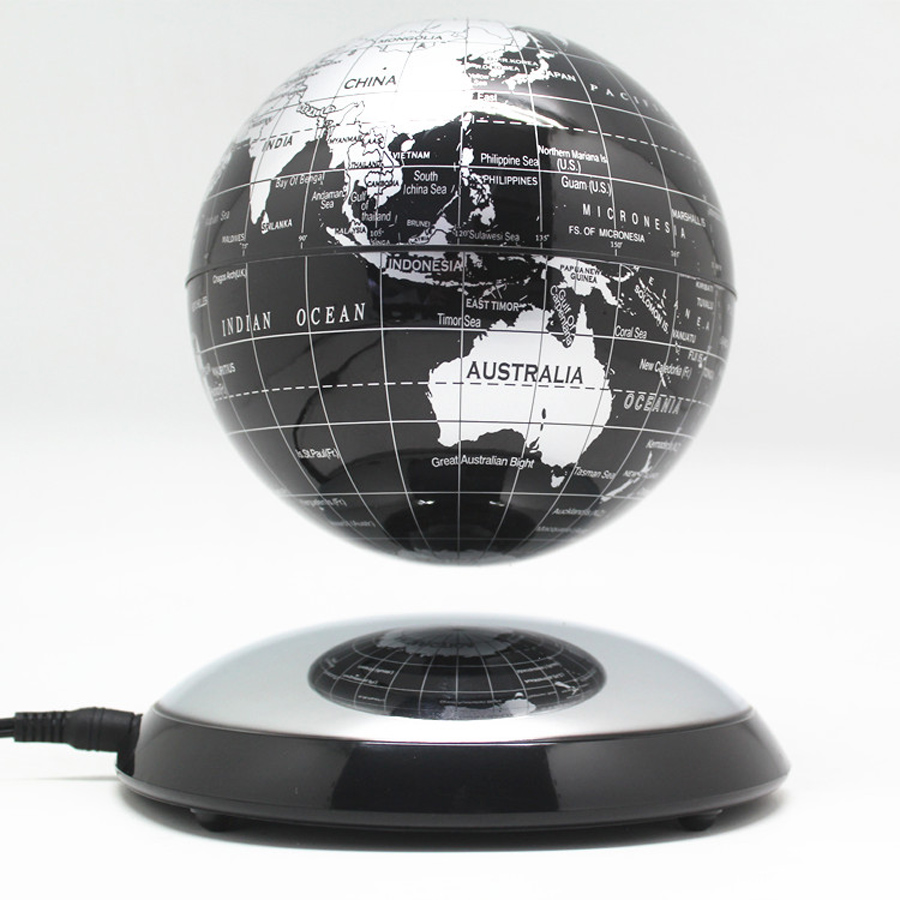 6 inch creative electronic magnetic levitation floating luminous 6 inch creative magnetic levitation floating globe world map the best desktop decor christmas company anniversary gumiabroncs Choice Image