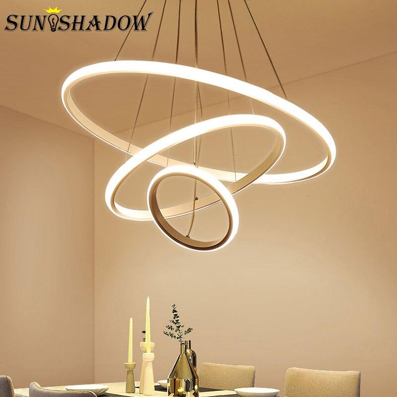 New Arrival Modern LED Pendant Light For Living room Dining room Kitchen Luminares AC110V 220V Round Pendant Lamps