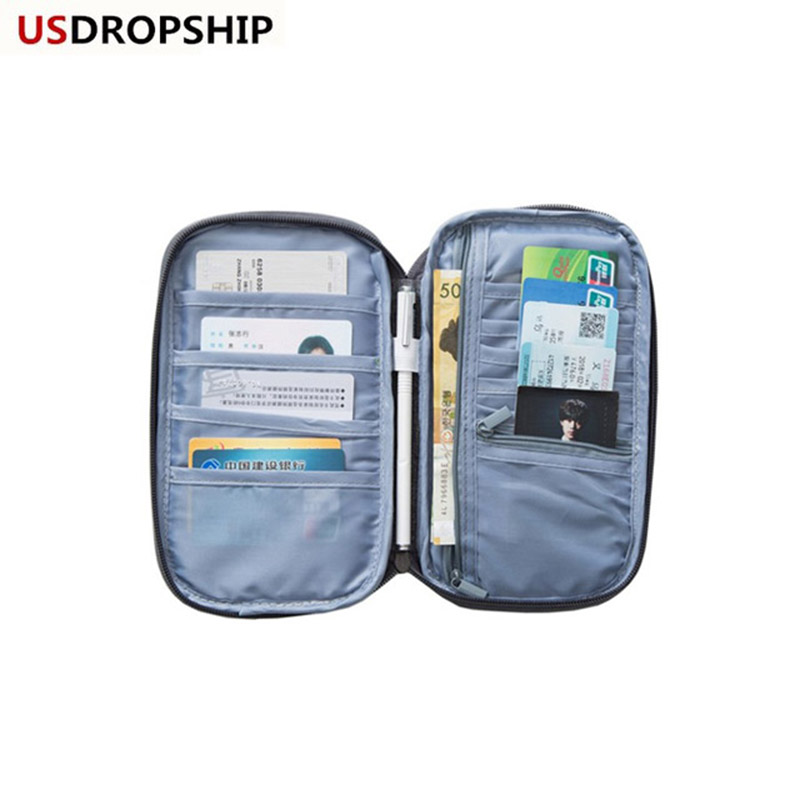 USDROPSHIP New Travel Card Holder Passport Cover Women Travel Passport Wallet Organizer Purse Passport Credit Card Passport bag travel bag wallet purse document organizer zipped passport tickets id holder new