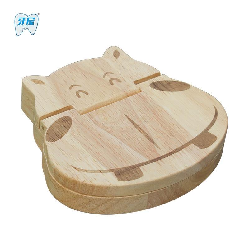 Baby Teeth Box Keep Baby Milk Teeth Organizer Wooden Storage 3-6 YEARS Creative For Kids Gift Gift Box