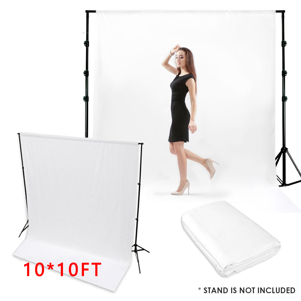 KIDNIU 3x3m Screen Muslin Backdrops Lighting Studio 100% Cotton Photography Props Background Photo Black / white harman kardon onyx studio 2 black