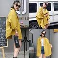 2017 новая весна Хан ван свободные длинные рубашки куртка ветровка с длинными рукавами пальто женщина все-матч