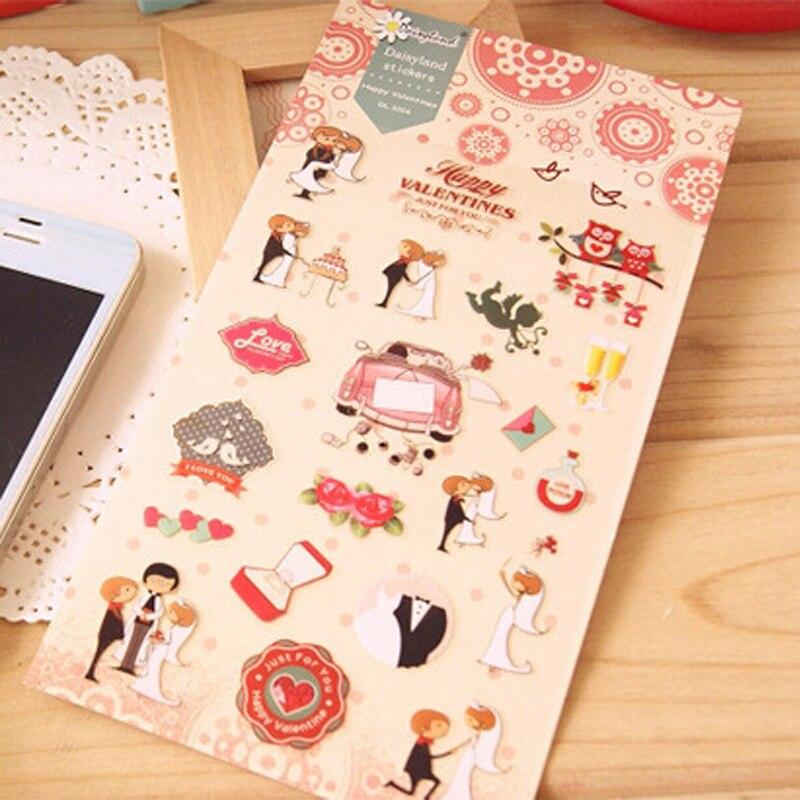1 x Daisyland Happy Wedding adhesive paper sticker decorative diy scrapbooking planner sticker Paste kawaii stationery