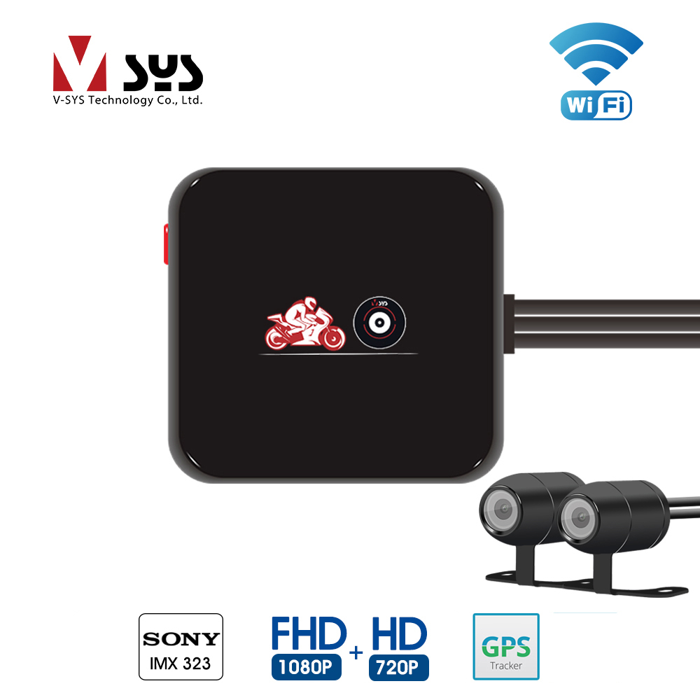 SYS VSYS M6L WiFi Motorcycle DVR Dash Cam Full HD 1080P 720P Front Rear View Waterproof