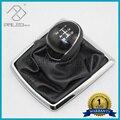 Para Ford Focus 2 MK2 2005 2006 2007 2008 2009 2010 2011 C-Max Kuga Fiesta Novo 5 Velocidades Manual Da Shift de Engrenagem Knob Com Couro bota