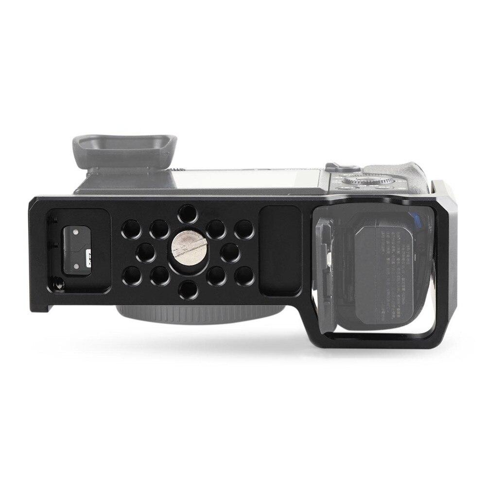 Cage de caméra SmallRig pour Sony A6000/A6300/A6500 ILCE-6000/ILCE-6300/A6500/Nex-7 Cage en alliage d'aluminium pour monter le moniteur de trépied-1661 - 2