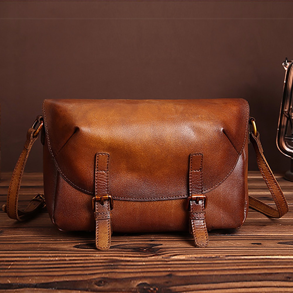Famous Brand Genuine Leather Women Messenger Bags Luxury Vintage Ladies Satchel High Quality Cowhide Crossbody Shoulder Bag New doodoo women bag genuine leather famous brand cowhide women messenger bags bolsa femininas luxury brand ladies hand bags t437