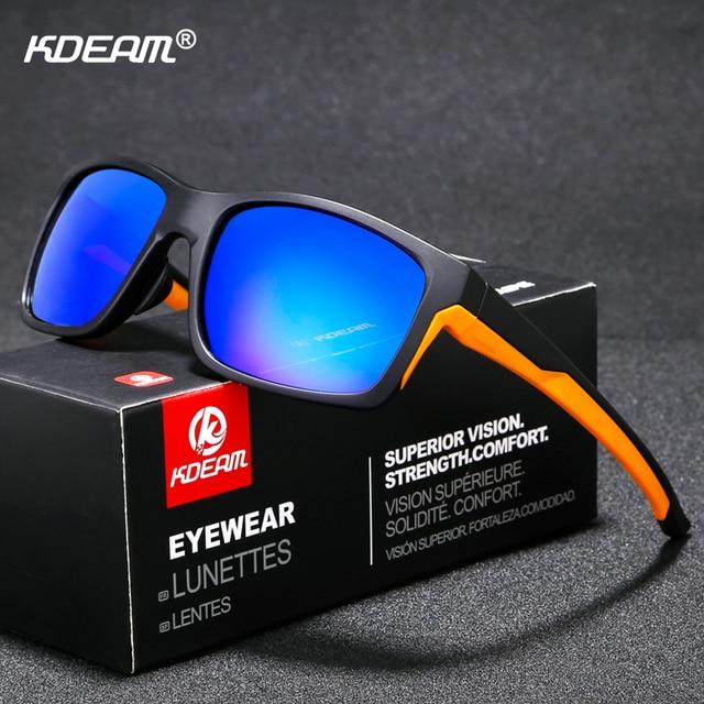 0fddca5c15a9 KDEAM Performance Polarized Sunglasses Men Sport TR90 Frame Anti-reflecting  Ocean Sun Glasses Polaroid Driving Sunglass