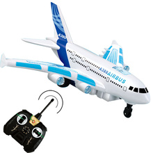 Airbus A380 aircraft model Sound Light RC plane remote control shuttle airplane can't fly