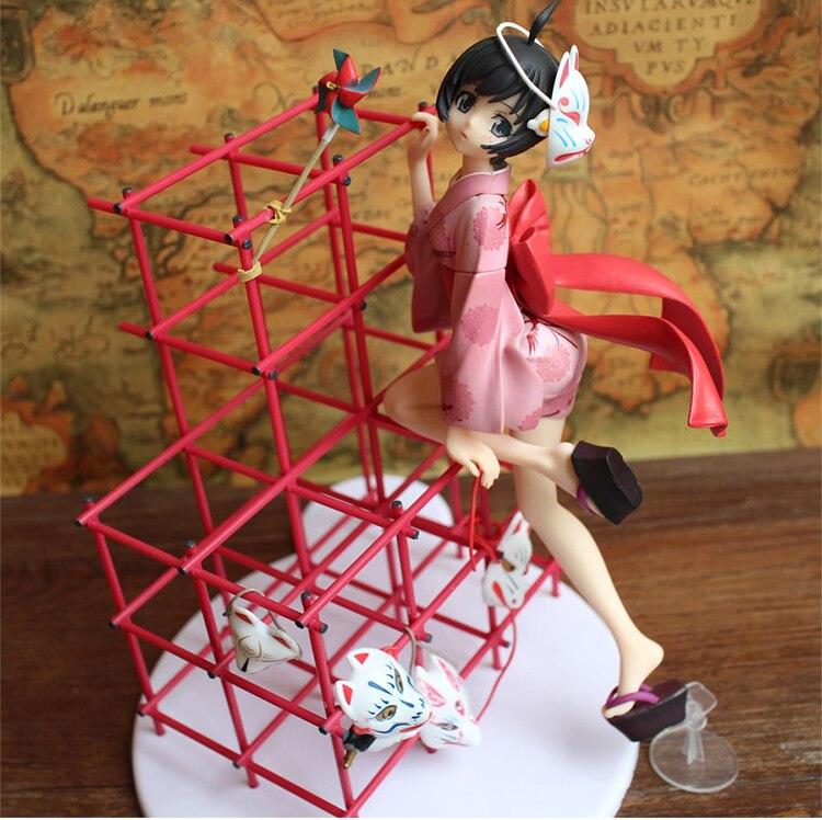 23.5CM Japanese anime figure Araragi Tsukihi Nisemonogatari 1/8 Scale PVC Action Figure Collectible Model Toy japan good smile araragi tsukihi nisemonogatari 1 8 scale pvc anime cartoon doll action figure collectible model toy t5733