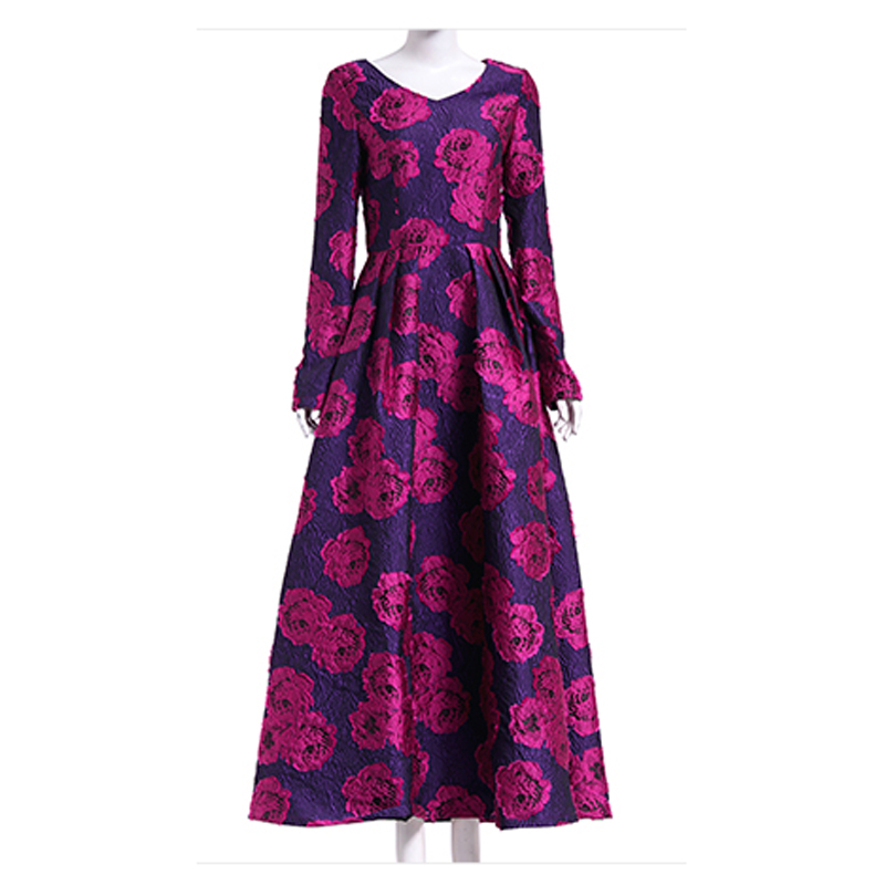 √Newest Fashion Fall 2017 Designer Maxi Dress Party Dress Women\'s ...