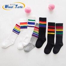 Newborn Soft Cotton Baby Socks Solid Color Girl Boy Infant Toddler Knee High Sock Stuff Calcetines