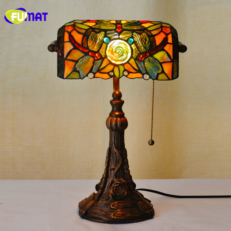 Quality Table Lamps: FUMAT Stained Glass Table Lamps Quality Luxury Dragonfly