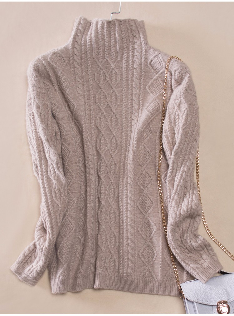 Knitted Pullover 100% Cashmere-wool Winter Thick