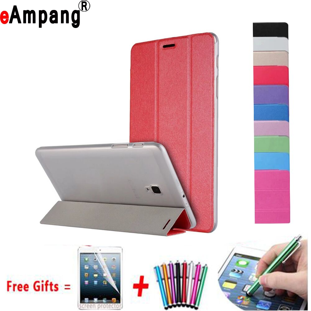 Case For Samsung Galaxy Tab A 8.0 2017 SM-T380 SM-T385 Ultra Slim Trifold Smart Wake Sleep Cover for Samsung Galaxy...  samsung tab a 8.0 case | Galaxy tab A 8.0 flip / book snap on cover [official/original]  font b Case b font For font b Samsung b font Galaxy font b Tab