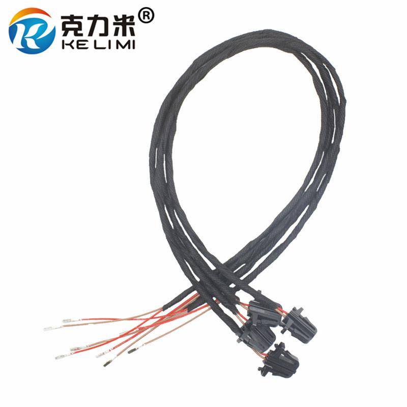 KELIMI 50cm OEM LED Door Warning Light extension Wire harness Cable For Volkswagen Golf MK5 MK6