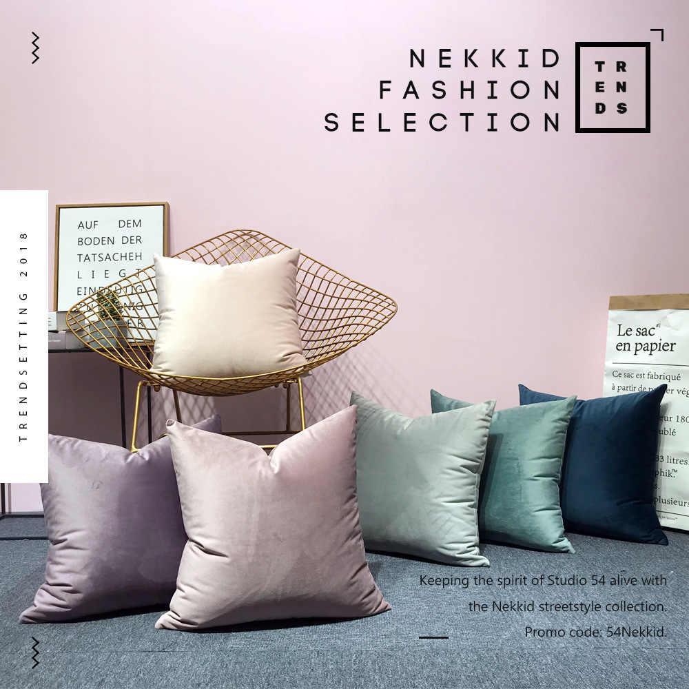 Роскошный бархатный чехол для подушки, чехол для подушки, желтый, розовый, синий, золотой, белый, черный, серый домашний декоративный чехол для дивана