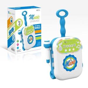 Image 4 - 어린이 음악 수하물 가방 가라오케 노래 기계 마이크 age3 + 소년 소녀 재미 있은 선물 장난감 악기