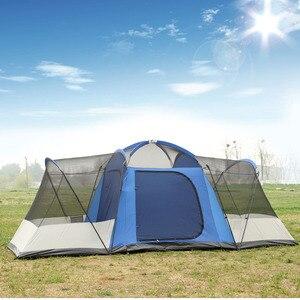 Image 5 - 8 10 12 pessoa 2 quarto 1 sala de estar enorme anti chuva abrigo festa base da família caminhadas pesca praia alívio acampamento ao ar livre tenda