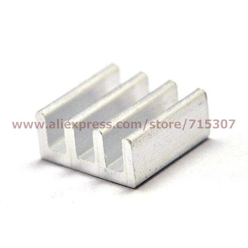 PHISCALE 50pcs 11*11*5 / 11x11x5mm Aluminum heat sink used for RAM chips