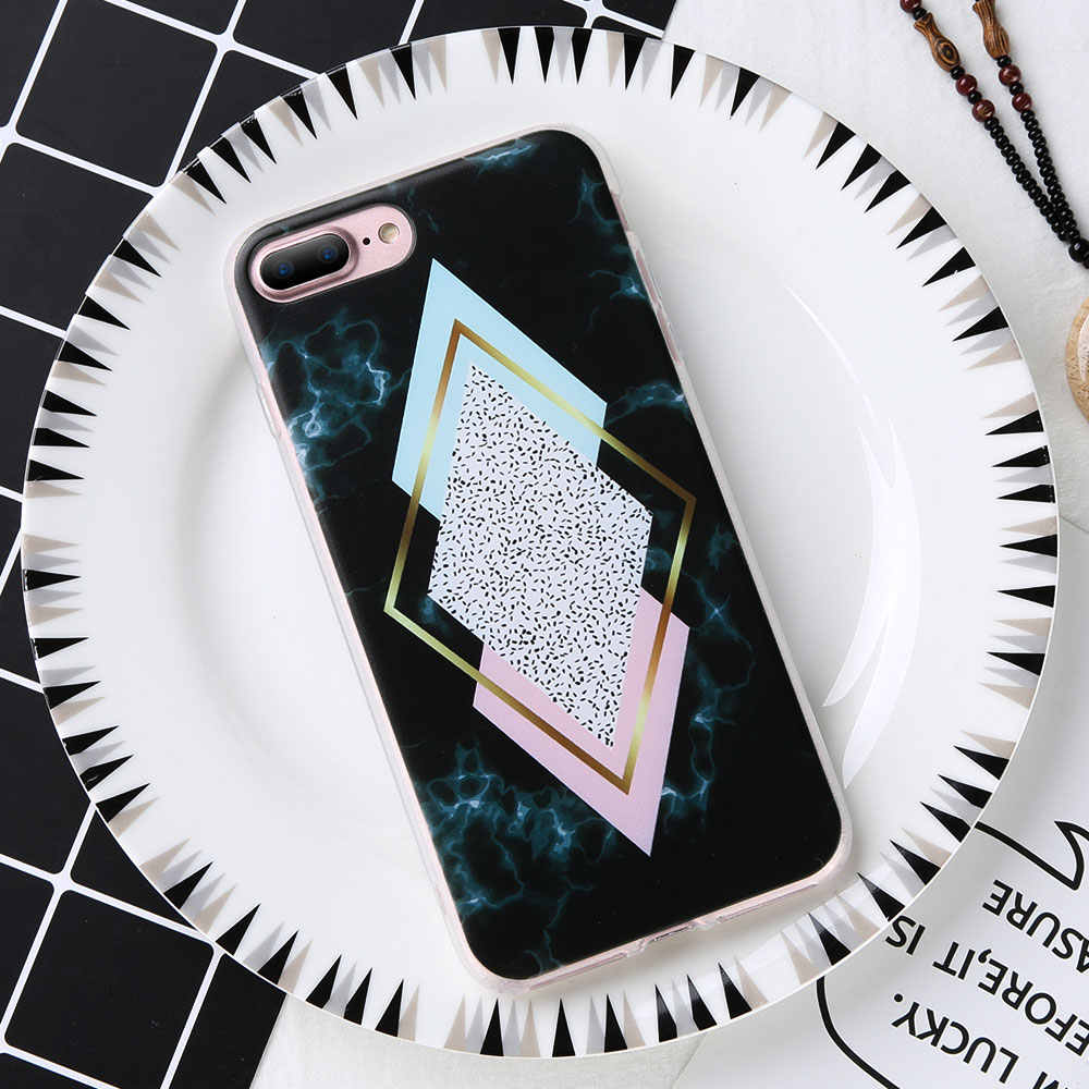 KISSCASE Marble Phone Case For Huawei P8 P9 P10 P20 Lite plus Geometric Triangle Patterned Phone Cases For Huawei Honor 6X 7 8 9