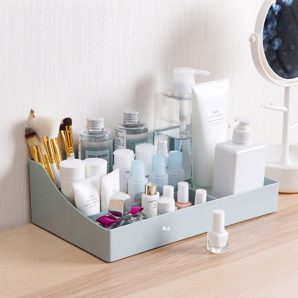 Multi-color cosmetics storage box desktop racks Dressing table plastic skin care