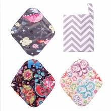 3 шт. прокладки+ 1 сумка для хранения многоразовый бамбуковый уголь тканевые менструальные прокладки моющиеся непромокаемые трусики вкладыши прокладки