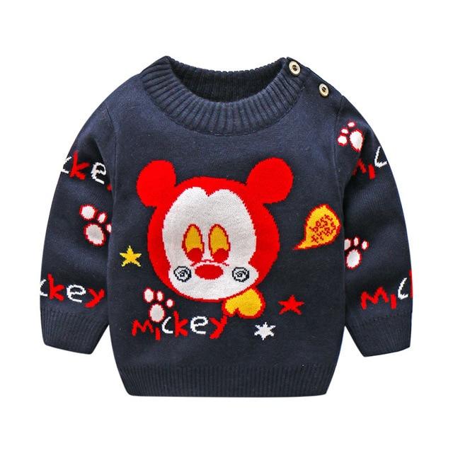 3fe500e4c BibiCola Children 2018 Sweaters For boys Girls Cotton O Collar ...